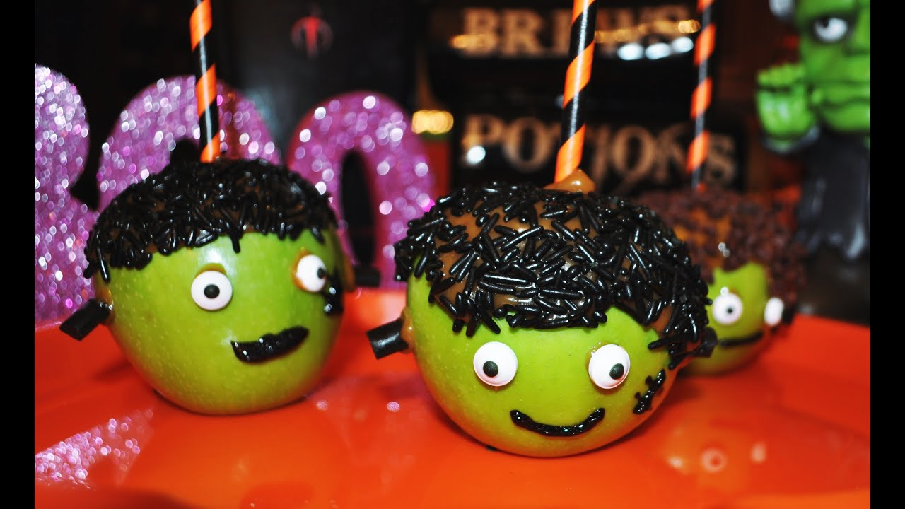 frankenstein caramel apples scratch recipe for halloween party ideas halloween recipes youtube