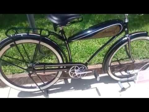 Antique 1936 Indian Bicycle - Hooters & Hot Rods Car Show - Sanford, FL 3/3/2015   ADVENTURE BIKER