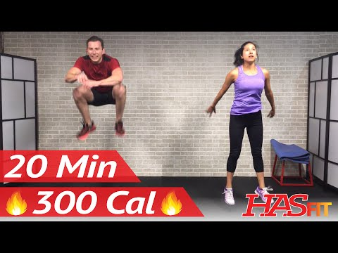 20 Minute HIIT Home Cardio Workout Without Equipment - Full Body