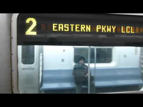 FASTRACK: IRT Eastern Parkway Line: R142 2 Train at Kingston Ave (Utica Ave Bound-Late Evening)