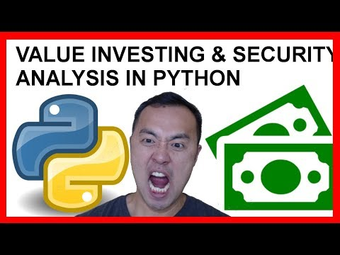 Value Investing - Security (Stock) Analysis with Python Part 1