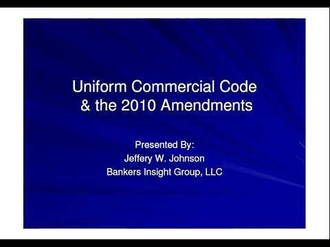 Article 9 of the Uniform Commercial Code: What you need to know?