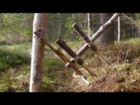Primitive Survival Trap - The Feather Spear Trap.
