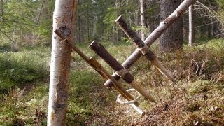 Primitive Survival Trap - The Feather Spear Trap.