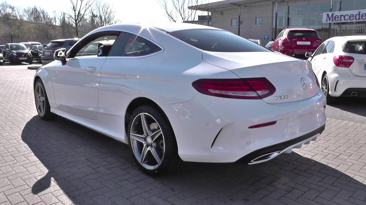 mercedes benz c class coupe 2015 c 200 amg line coupe u24869 youtube. Black Bedroom Furniture Sets. Home Design Ideas