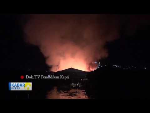 TV KEPRI BERITA.kebakaran hanguskan belasan rumah di jl pelantar Tanjungpinang