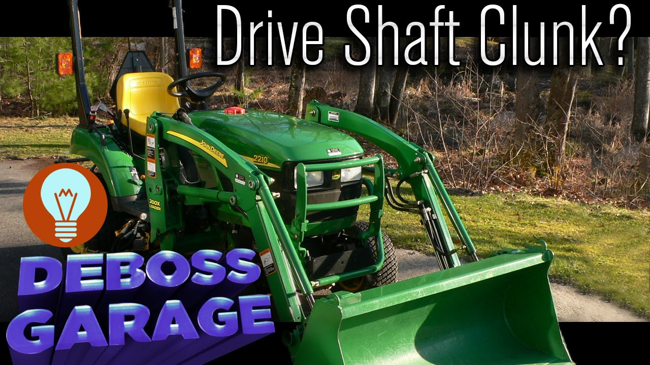 hight resolution of how to fix a john deere 2210 drive shaft