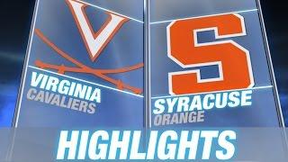 Virginia vs Syracuse | 2015 ACC Men