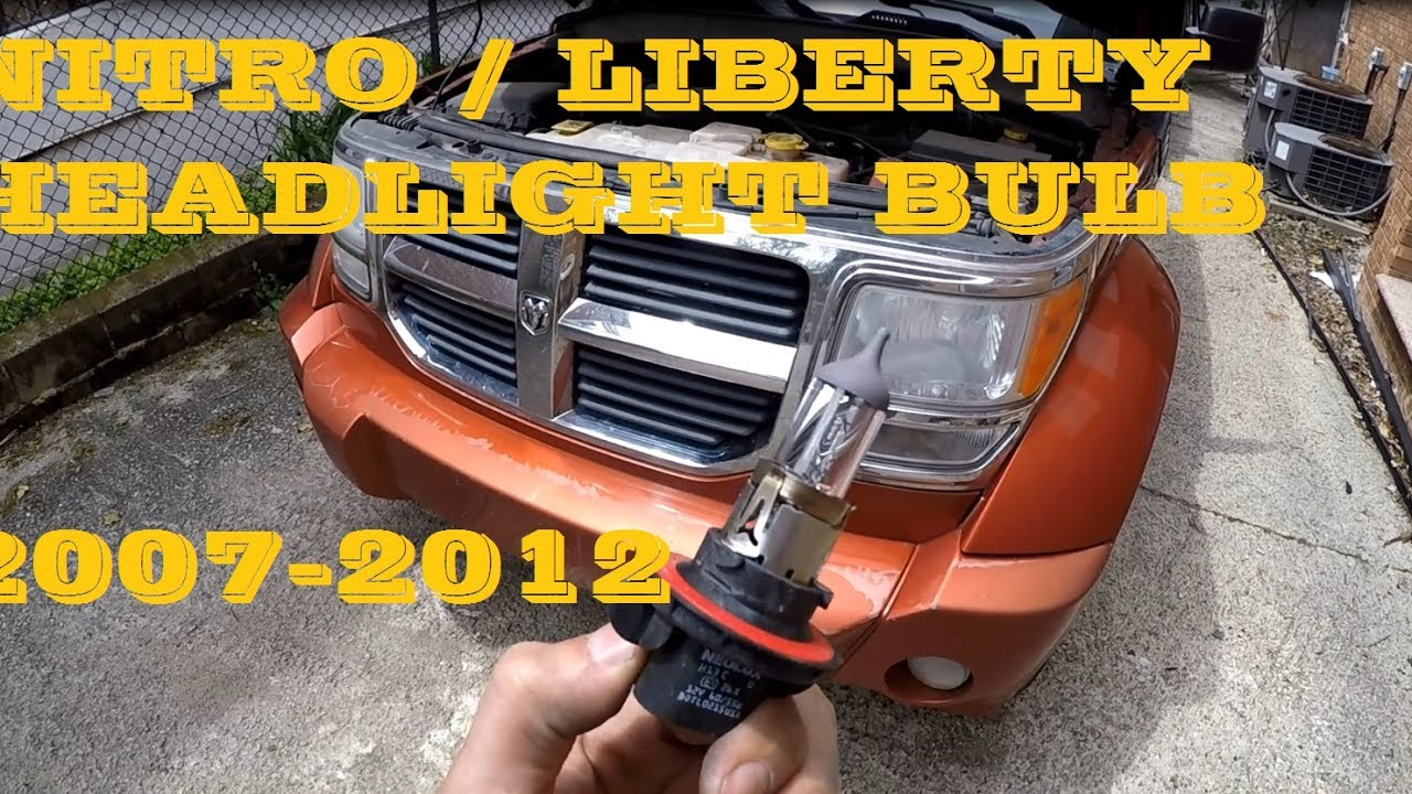 how to change replace headlight bulb in dodge nitro aka jeep liberty 2007 2012 [ 1280 x 720 Pixel ]
