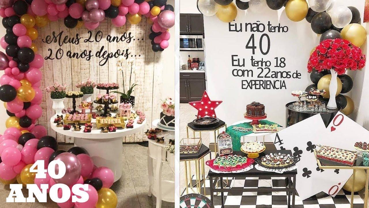 Temas Criativos Para Festa De 40 Anos