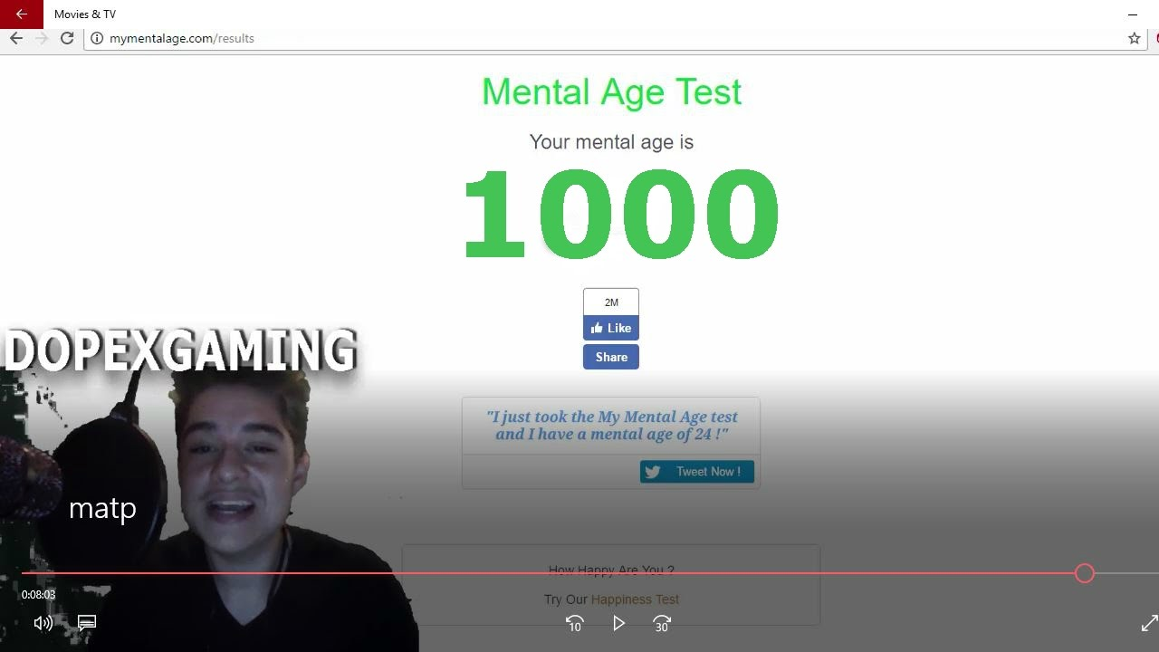 mental age test with face cam youtube