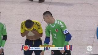Liga Sudamericana de Fútsal Bogotá 2017 COLOMBIA vs PERÚ - Sub19   Gol Caracol