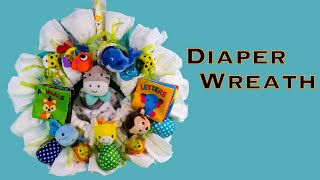 Making a Diaper Wreath Baby Shower Gift (DIY, How to)