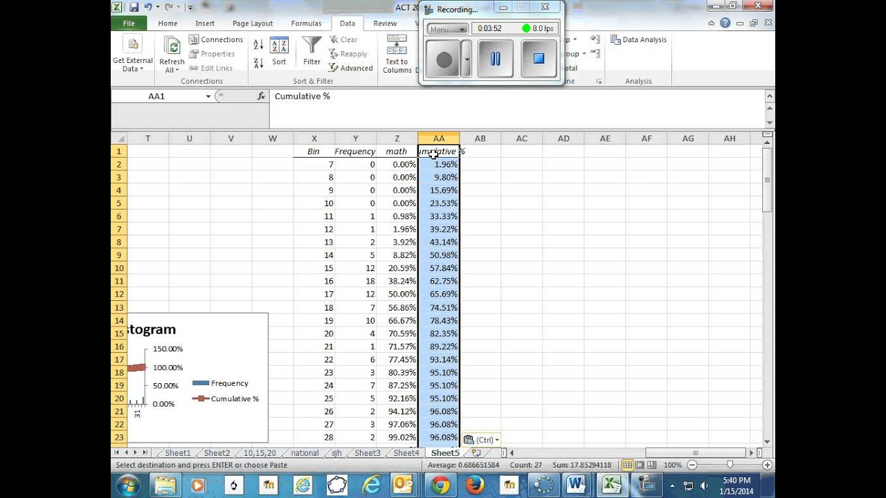 Create cumulative percentage graphs in excel youtube ccuart Images
