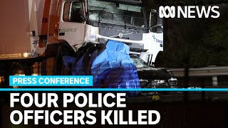 Four police officers killed in multi-vehicle crash in Melbourne