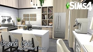 Scandi Chic - A Scandi Inspired apartment |No CC| The Sims 4 | Stop Motion