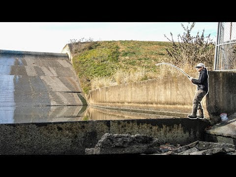 This TINY SPILLWAY Is DEEP!!! (Surprise Catch)
