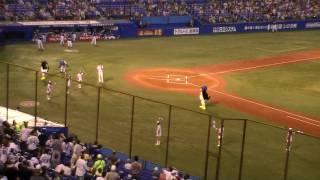 2009年8月29日、神宮球場での東京ヤクルトスワローズvs中日ドラゴンズの...