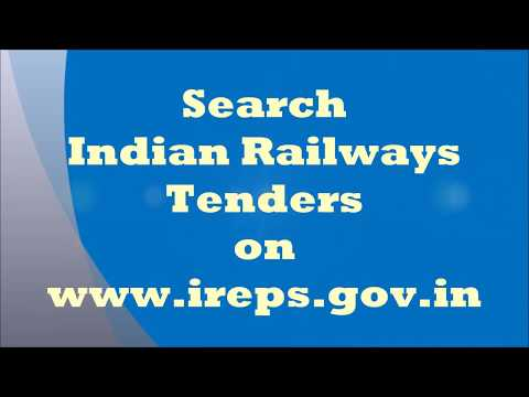Search Indian Railways e-tenders on www.ireps.gov.in