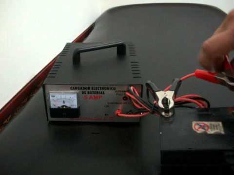 Cargador Automatico De Baterias 12v 5 Amperios Youtube