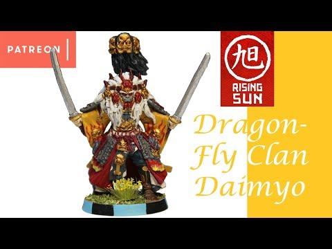 Rising Sun Painting: Dragonfly Clan Daimyo