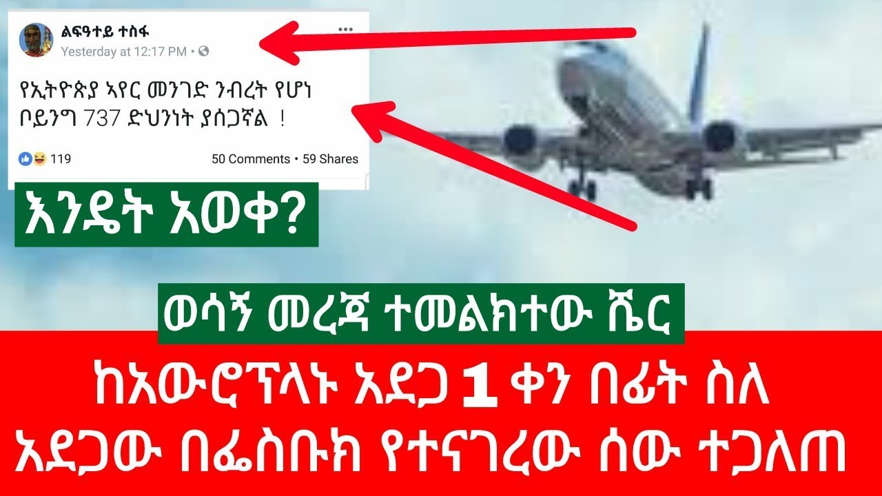 Information About The Crashed Ethiopian Plane