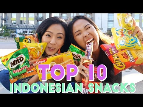 TOP 10 WEIRD INDONESIAN SNACKS + MIA'S BACK!
