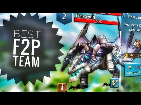 Lords Mobile - Best F2P Frostwing Monster Hunting Team