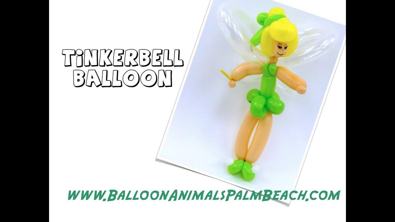 How To Make A Tinkerbell Balloon Balloon Animals Palm Beach Youtube
