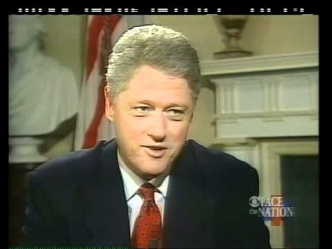 Pres. Clinton discusses Whitewater on Face the Nation