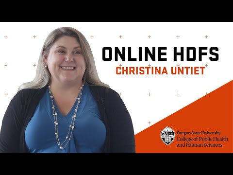 For Christina, an online HDFS degree was just what she was looking for