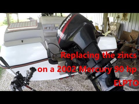Replacing The Sacrificial Anodes On A 2002 Mercury 90 Hp ELPTO