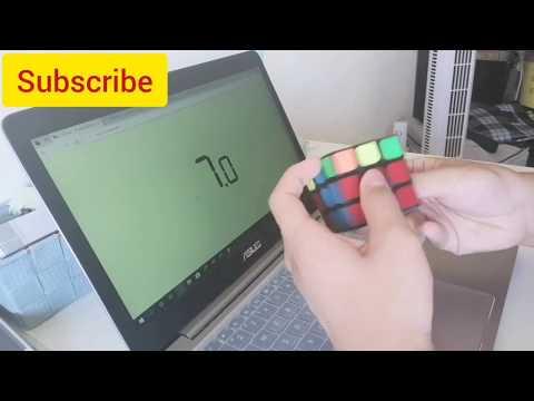 3x3x3 Rubik's cube CFOP Method ao5 18.67