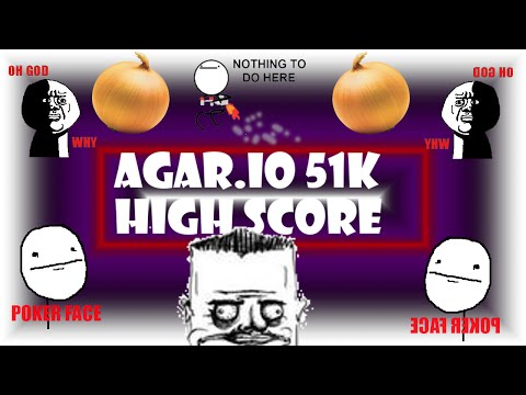 NEW HIGH SCORE! 51K | Agar.io TeamBaggers