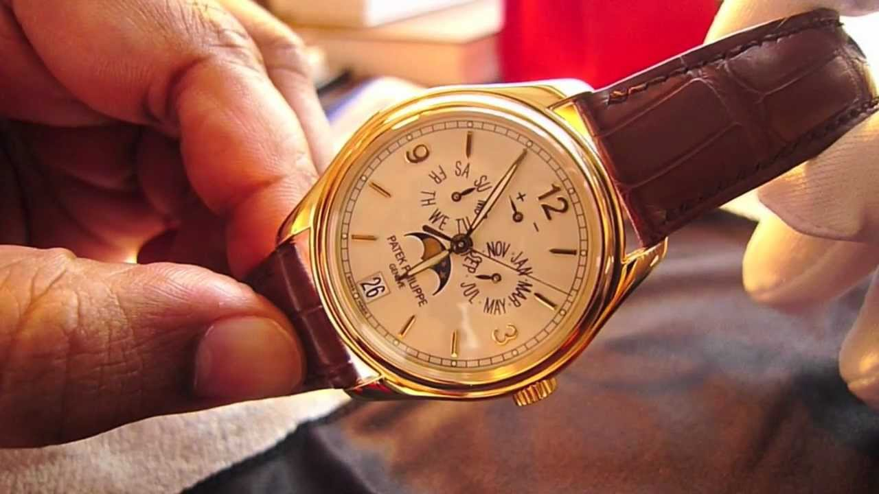 8801bc62780 Patek Philippe Calatrava 5146J with Annual Calendar, Moon Phase, and Power  Reserve Complications - YouTube