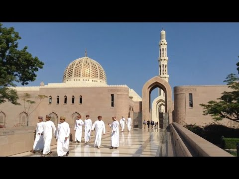 Prince Harry visits Sultan Qaboos Grand Mosque in Muscat