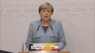 """Merkel zur Koalitionsfrage: """"Werden das Gespräch suchen, auch mit der SPD"""""""