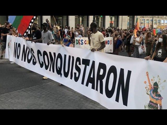 Madrid | Apenas 500 años después: 500 Jahre Widerstand #NoNosConquistaron - Demo mit EZLN