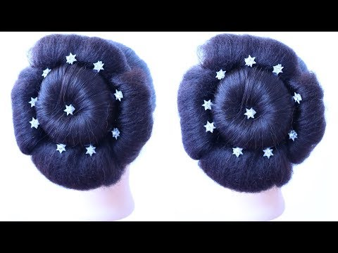 easy updo for weddings || updo hairstyles || wedding guest hairstyle || braidal dulhan hairstyle thumbnail