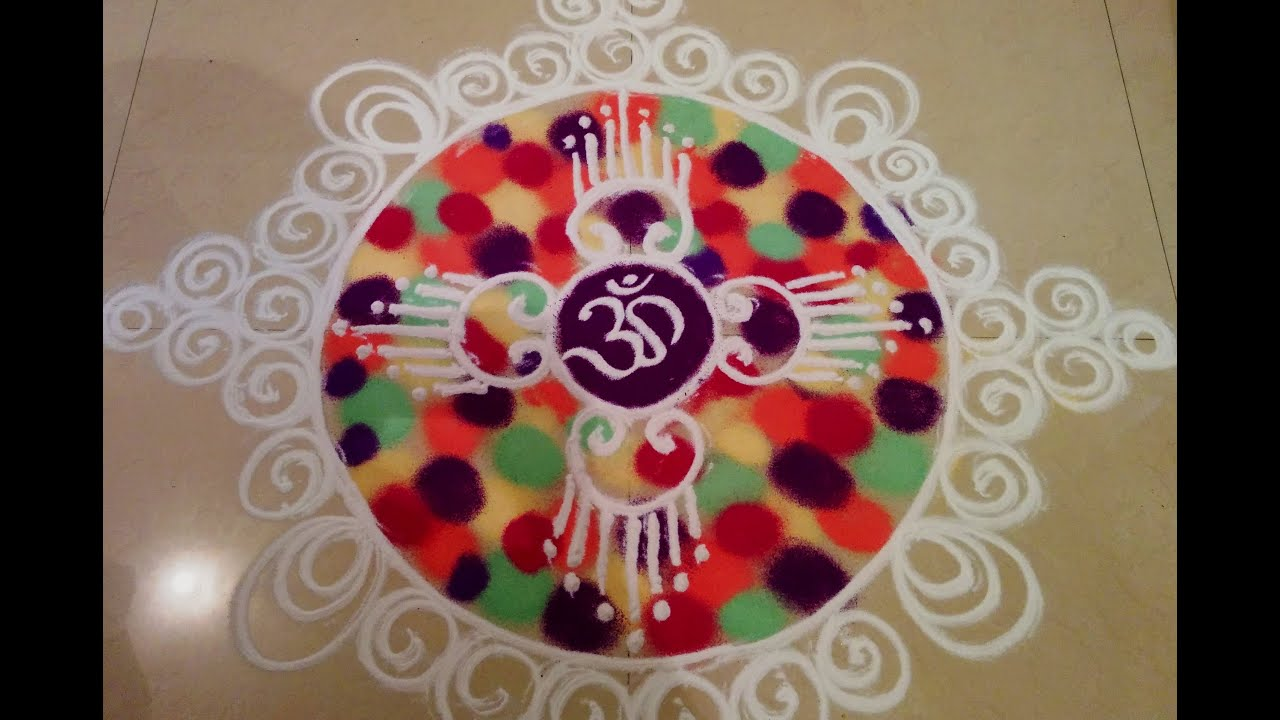 sanskar bharati rangoli design by savita 1 youtube