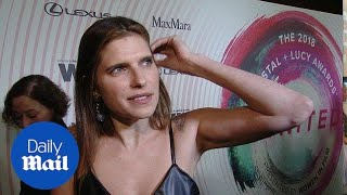 Lake Bell on womanhood at the 2018 Women in Film Awards