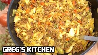 CURRIED CHICKEN NOODLE BEEF RECIPE - Greg's Kitchen