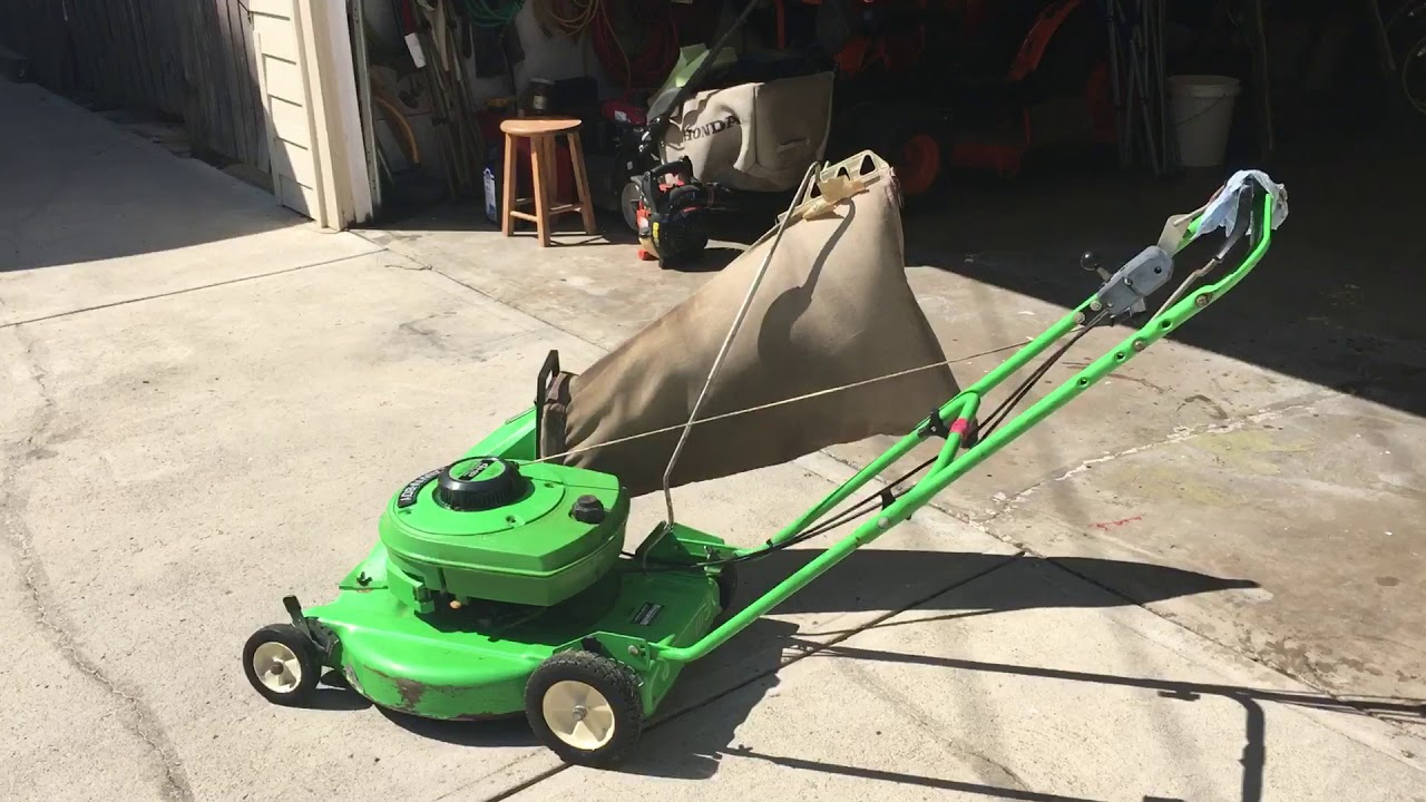 Blonde with lawn-mower - YouTube