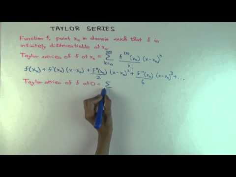 Taylor series: definition