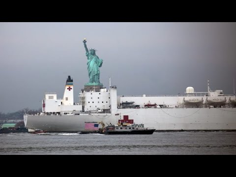 Coronavirus: USNS Comfort Arrives In Manhattan As Makeshift Hospitals Come To NYC