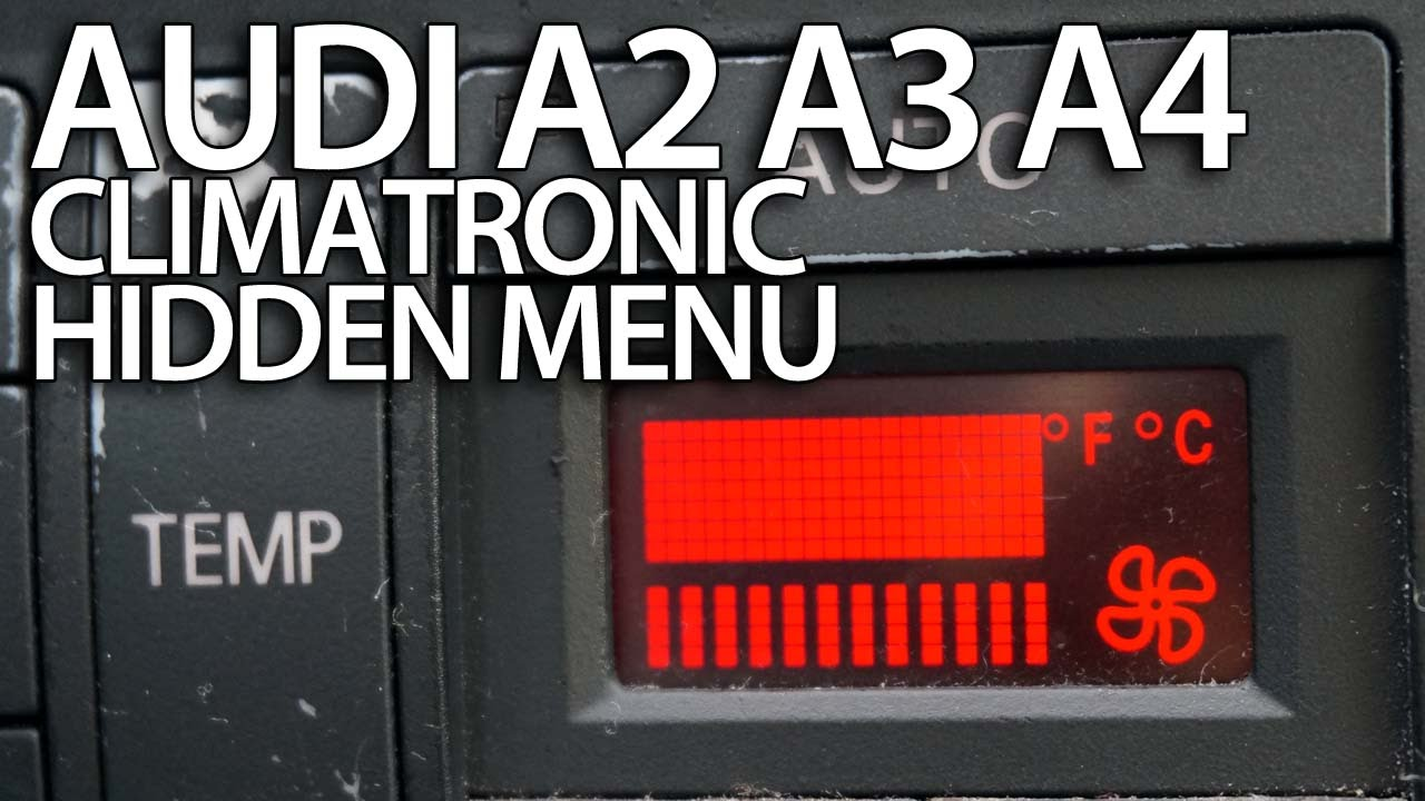 hight resolution of how to enter hidden service menu in audi a2 a3 8l a4 b5 climatronic secret hvac diagnostic youtube