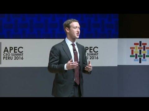 Mark Zuckerberg ~ The Connectivity Revolution ~ APEC CEO Summit Peru 2016 (11/19/2016)