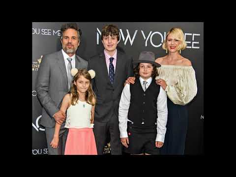 Mark Ruffalo with His wife Sunrise Coigney and Children