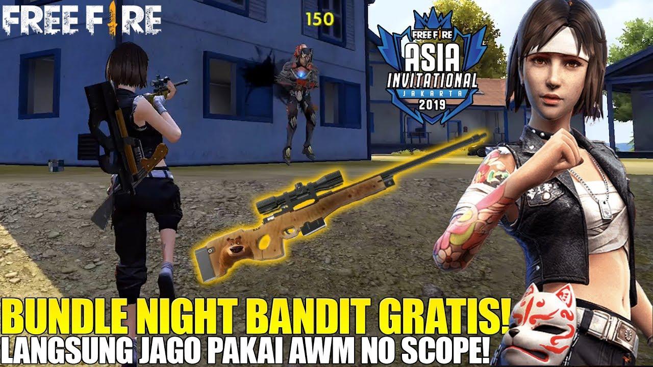 PAKAI BUNDLE NIGHT BANDIT LANGSUNG PRO AWM - AUTO RATAIN WARGA MAD DOG! FREE FIRE
