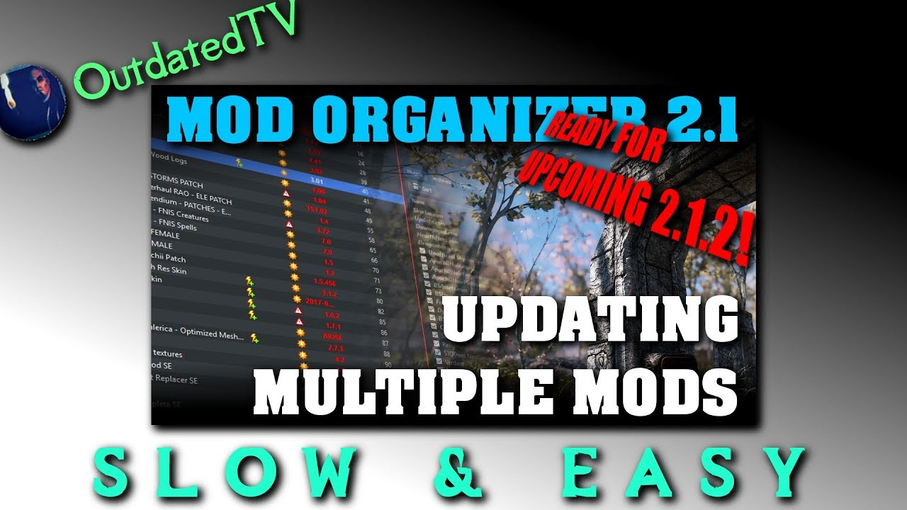 Mod Organizer 2 - Updating Mods explained on 11 examples - Slow & Easy  series